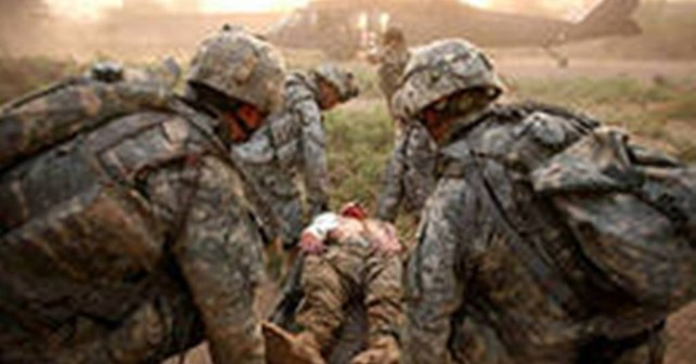 Раненый солдат